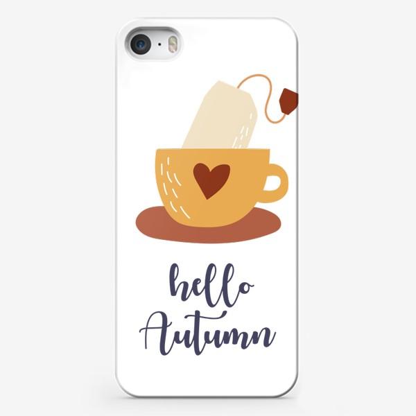 Чехол iPhone «Hello Autumn - Привет Осень. Чай в пакетике - уютный принт»