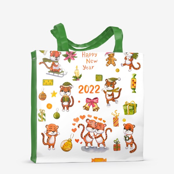 Сумка-шоппер «новогодние тигры»