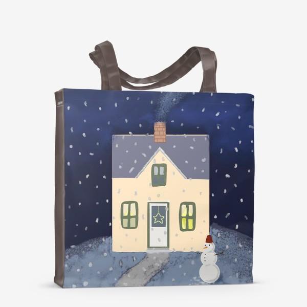 Сумка-шоппер «Снежный домик»