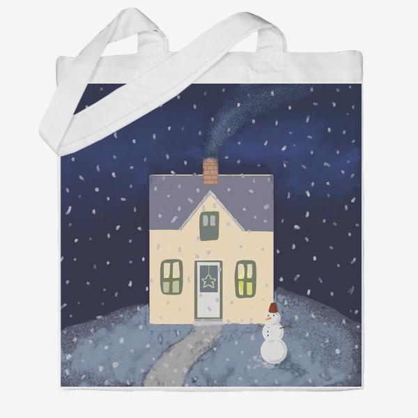 Сумка хб «Снежный домик»