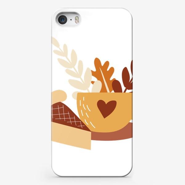 Чехол iPhone «Чай с пирогом - осеннее уютное настроение. Чашка чая»