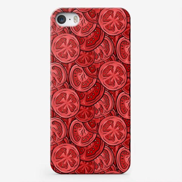 Чехол iPhone «Паттерн Помидорный узор»