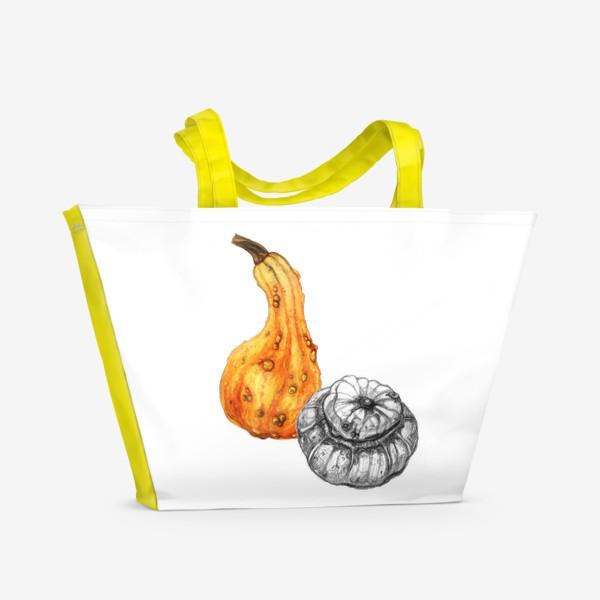 Пляжная сумка «Осенние тыквы»