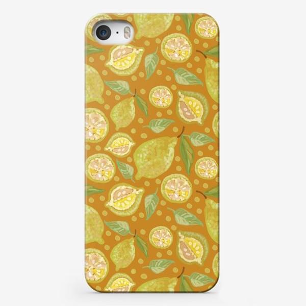 Чехол iPhone «Лимоны. Осенняя гамма.»