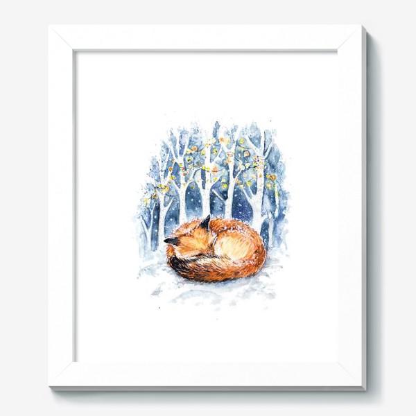 Картина «Зимняя лисичка»