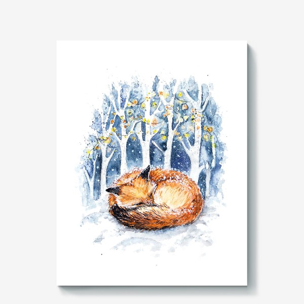 Холст «Зимняя лисичка»