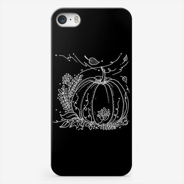 Чехол iPhone «Тыковка. Черный.»