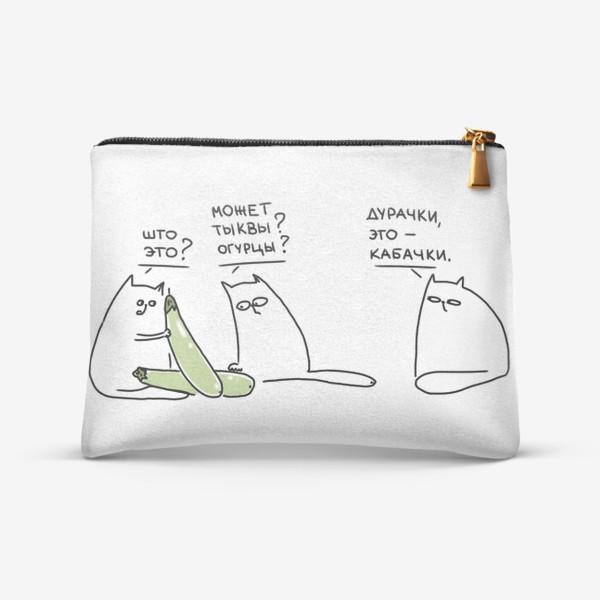 Косметичка «Коты и кабачки. Неопознанный объект »