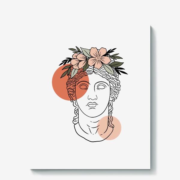 Холст «Античная статуя/ абстракция»