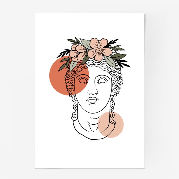 Постер «Античная статуя/ абстракция»
