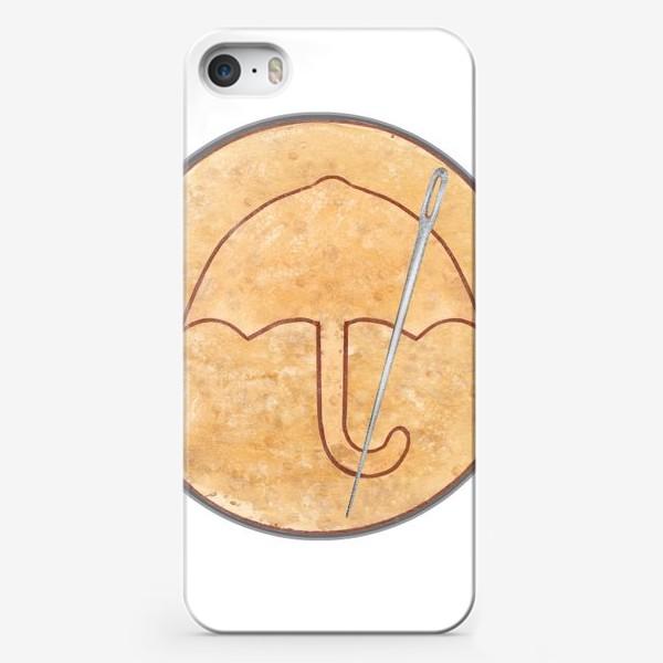 Чехол iPhone «Игра в кальмара. Сахарные соты , зонтик»