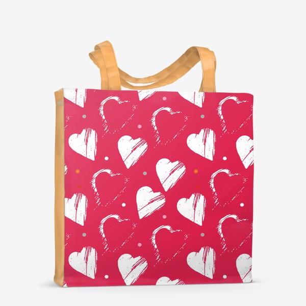 Сумка-шоппер «Сердца в красном»
