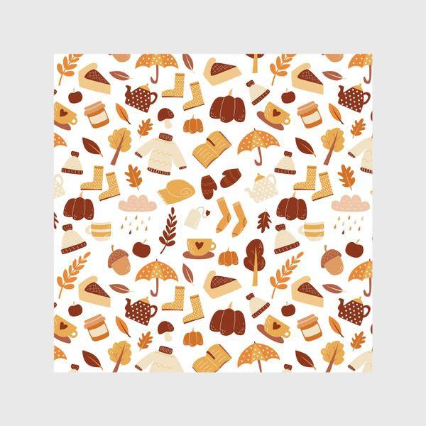 Шторы «Осенний дудл - узор. Теплая золотая осень »