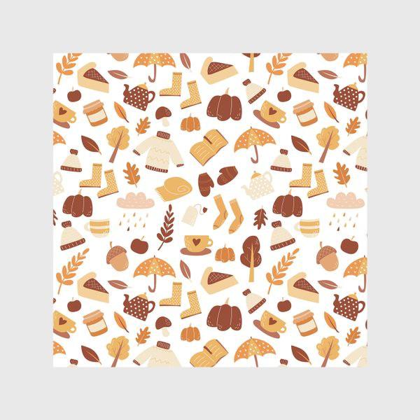 Скатерть «Осенний дудл - узор. Теплая золотая осень »