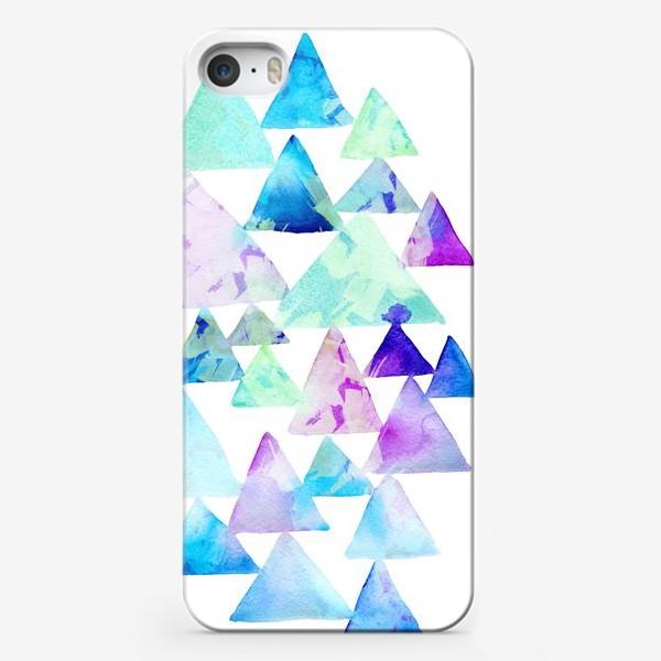 Чехол iPhone «Акварельные треугольники»
