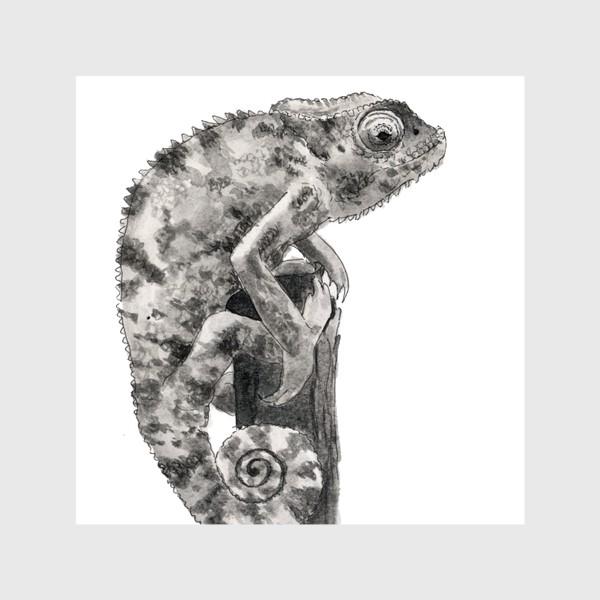 Шторы «Хамелеон сидит на дереве»