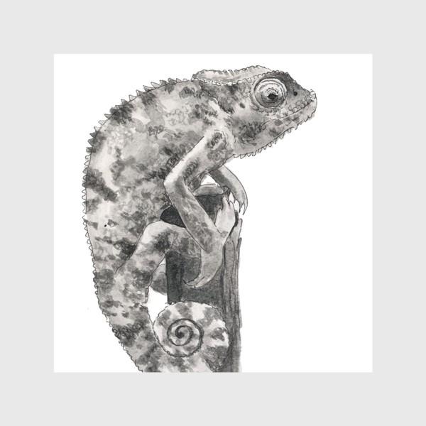 Скатерть «Хамелеон сидит на дереве»