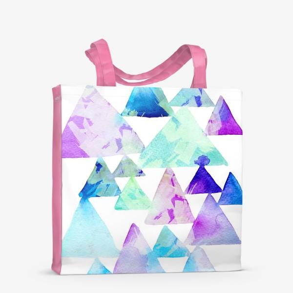 Сумка-шоппер «Акварельные треугольники»