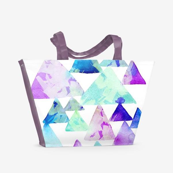 Пляжная сумка «Акварельные треугольники»