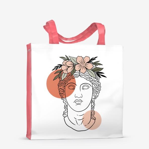 Сумка-шоппер «Античная статуя/ абстракция»