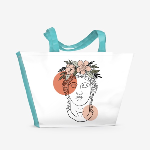 Пляжная сумка «Античная статуя/ абстракция»