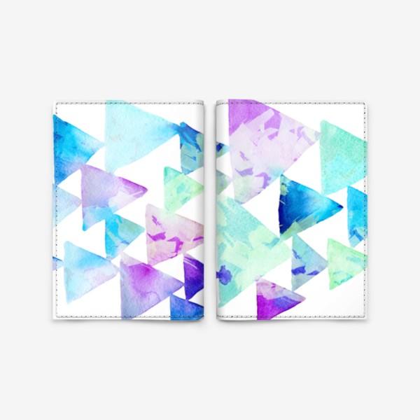 Обложка для паспорта «Акварельные треугольники»