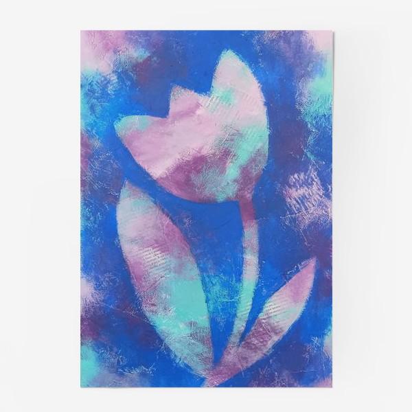 Постер «Тюльпан. Синий. Живопись»
