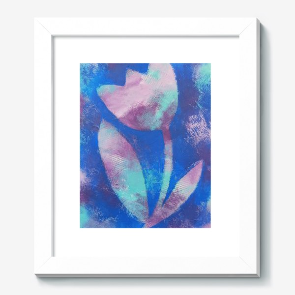Картина «Тюльпан. Синий. Живопись»