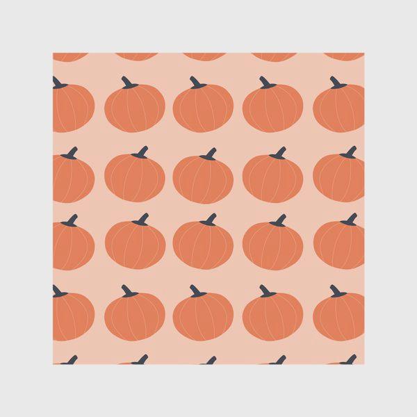 Скатерть «Оранжевые тыквы осенний паттерн»