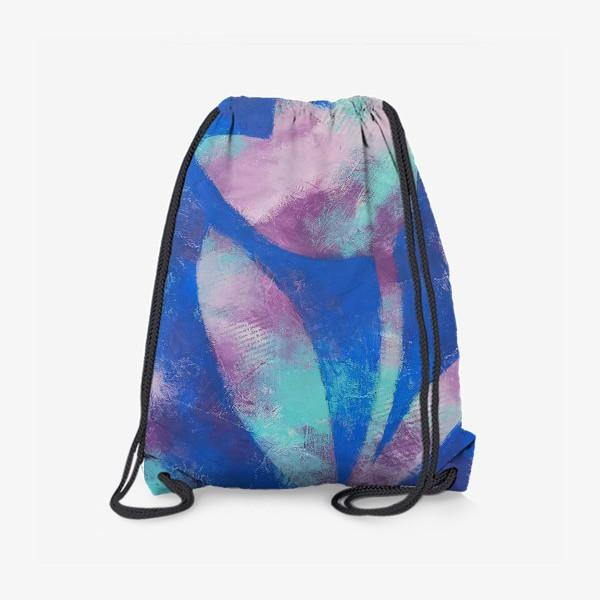 Рюкзак «Тюльпан. Синий. Живопись»
