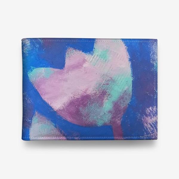 Кошелек «Тюльпан. Синий. Живопись»