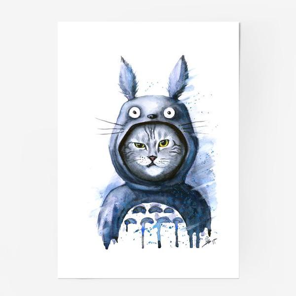 Постер «Кот Тоторо»