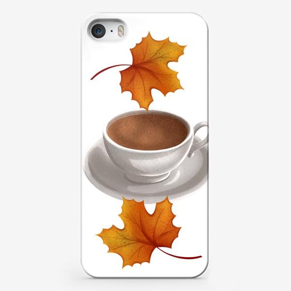 Чехол iPhone «Кофе и кленовые листья»