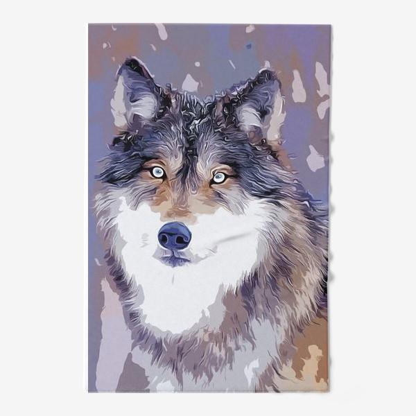 Полотенце «Яркий принт с волком»
