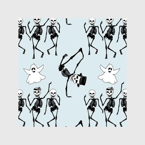 Шторы «Танцующие приведения и скелетики»