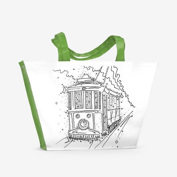Пляжная сумка «Трамвайчик.»
