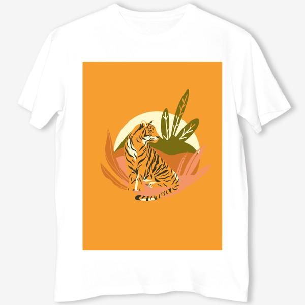 Футболка «Тигр в джунглях. Яркий фон»
