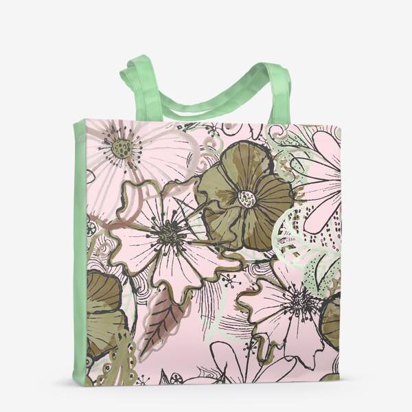 Сумка-шоппер «Цветы паттерн»