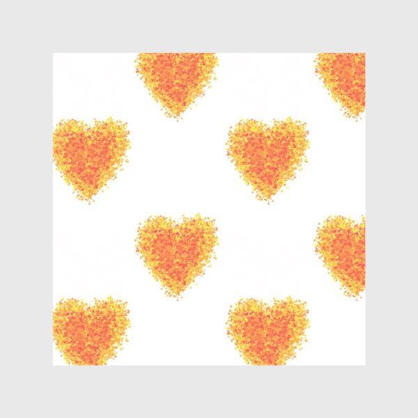 Скатерть «Сердечки из осенних листьев паттерн»