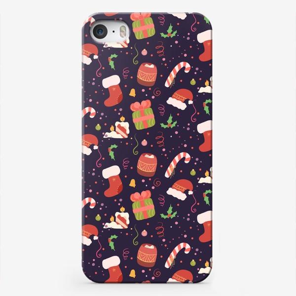 Чехол iPhone «Рождественский узор»