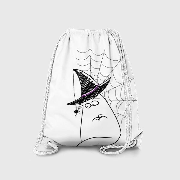 Рюкзак «Хеллоуин, Halloween. Кот и паук. Ути-пути»