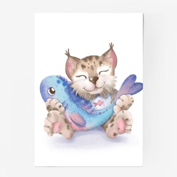 Постер «Счастье есть. Рысь с рыбкой»