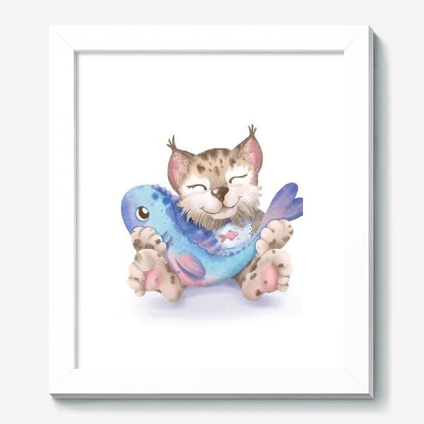 Картина «Счастье есть. Рысь с рыбкой»