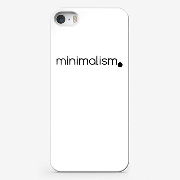 Чехол iPhone «Минимализм. Надпись. Черное и белое»