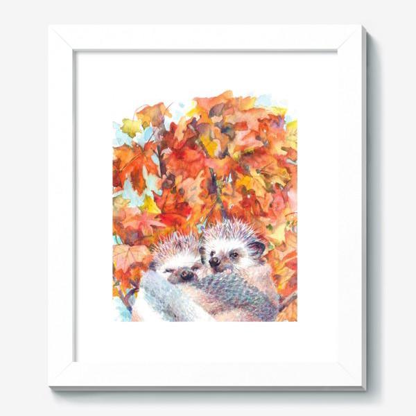 Картина «Милые ежики»
