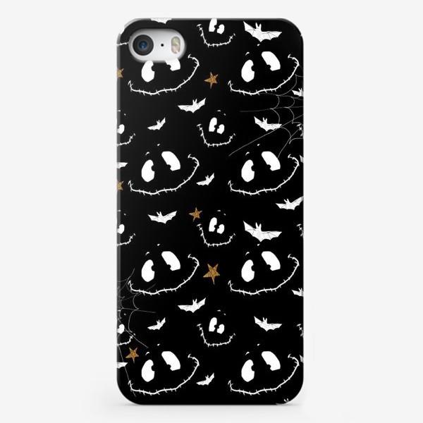 Чехол iPhone «Улыбки, летучие мыши и звезды на Хэллоуин (Halloween)»