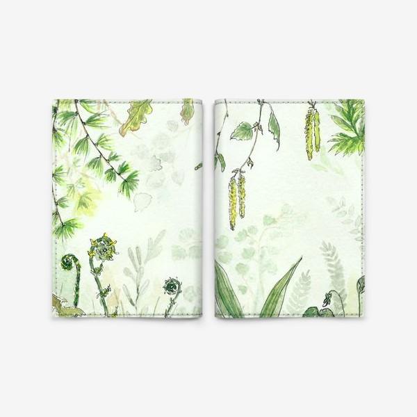 Обложка для паспорта «Тайный сад»