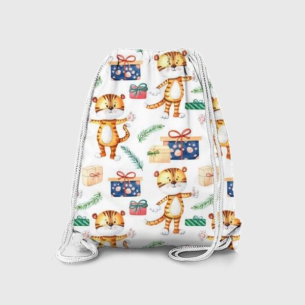 Рюкзак «Тигрята с подарками. Новогодний»