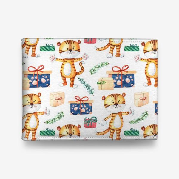 Кошелек «Тигрята с подарками. Новогодний»