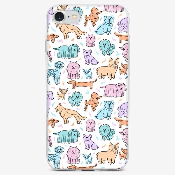 Чехол iPhone «Разные породы собак(абстракция)»